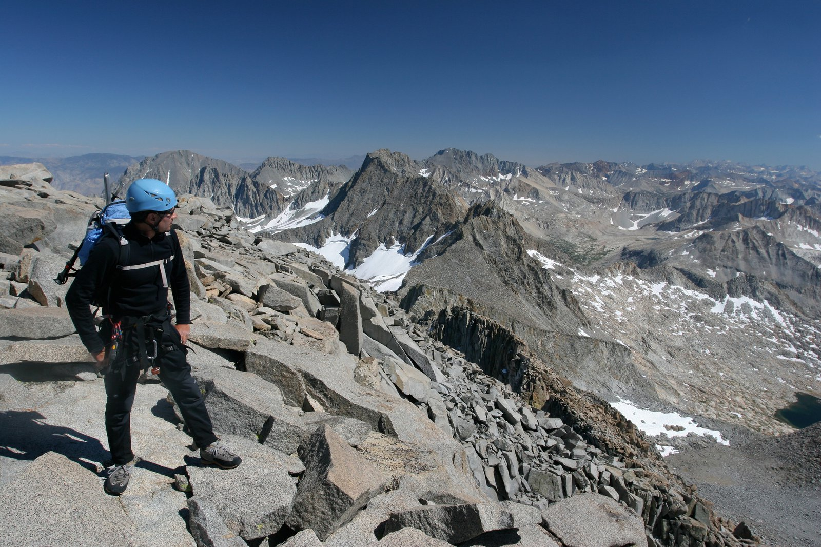 Michael Ybarra on Mt. Sill (photo: Misha Logvinov)