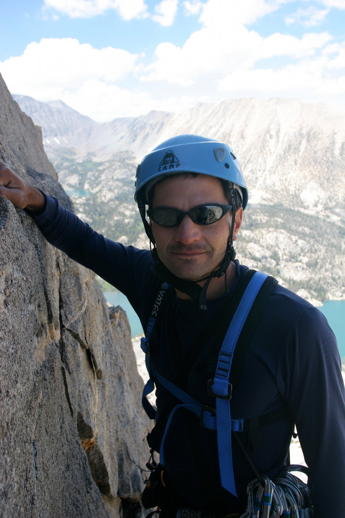 Michael Ybarra on Temple Crag (photo: Misha Logvinov)