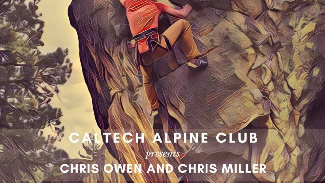Talk by Chris Owen and Chris Miller on their new climbing guidebook Holcomb: Sky Forest Gold