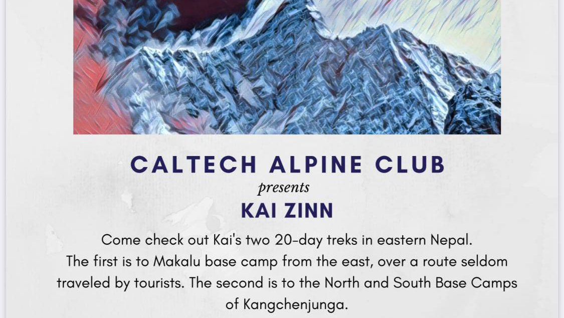 Talk by Kai Zinn on his two 20-day treks in eastern Nepal