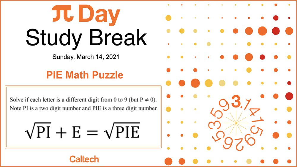 PIE math puzzle equation