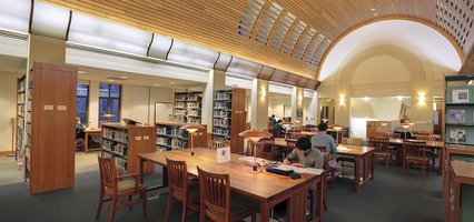 Inside Sherman Fairchild Library