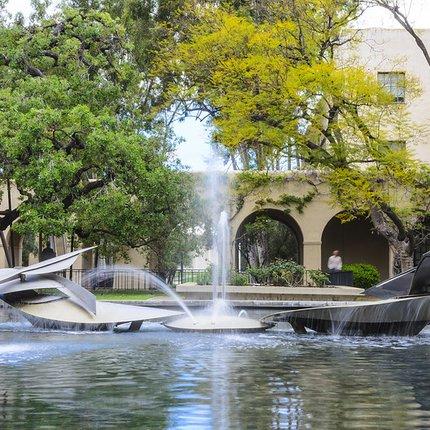Millikan Library water fountain