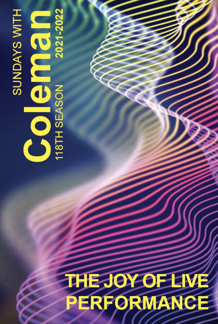 cover image from the 2021-2022 Coleman Chamber Music Association brochure
