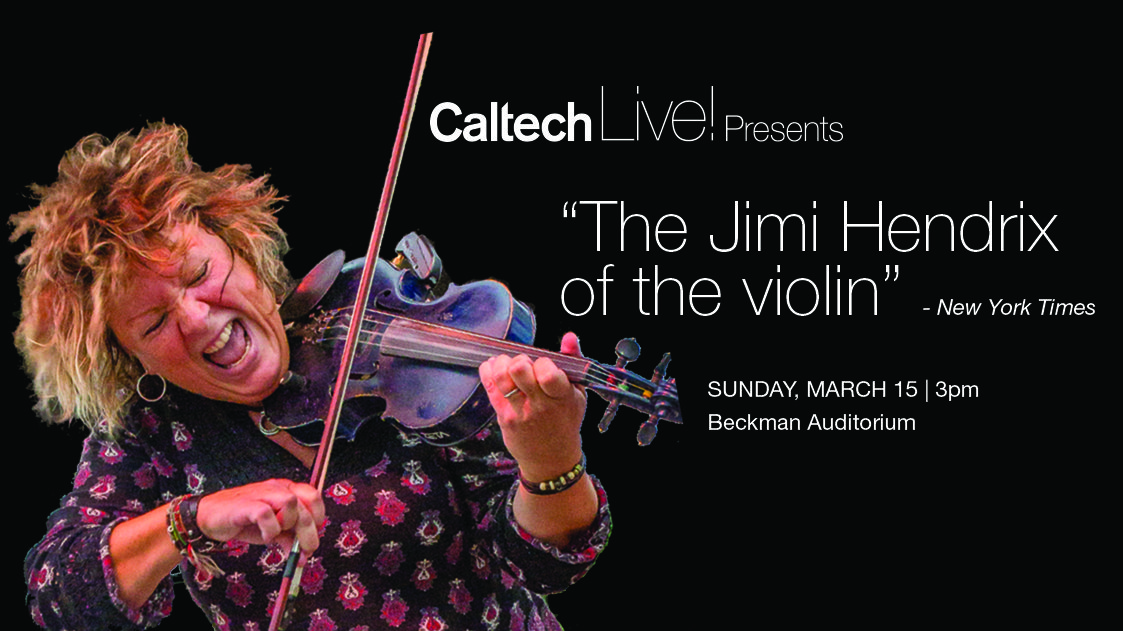 Woman rocking out on violin