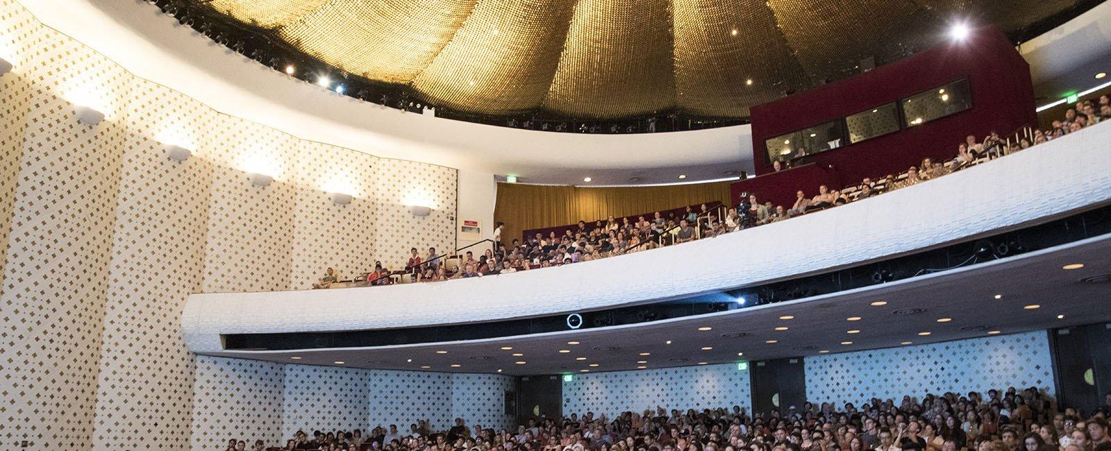 Beckman Auditorium interior