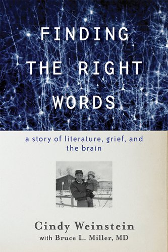 """book cover for """"Finding the Right Words"""" by Cindy Weinstein"""