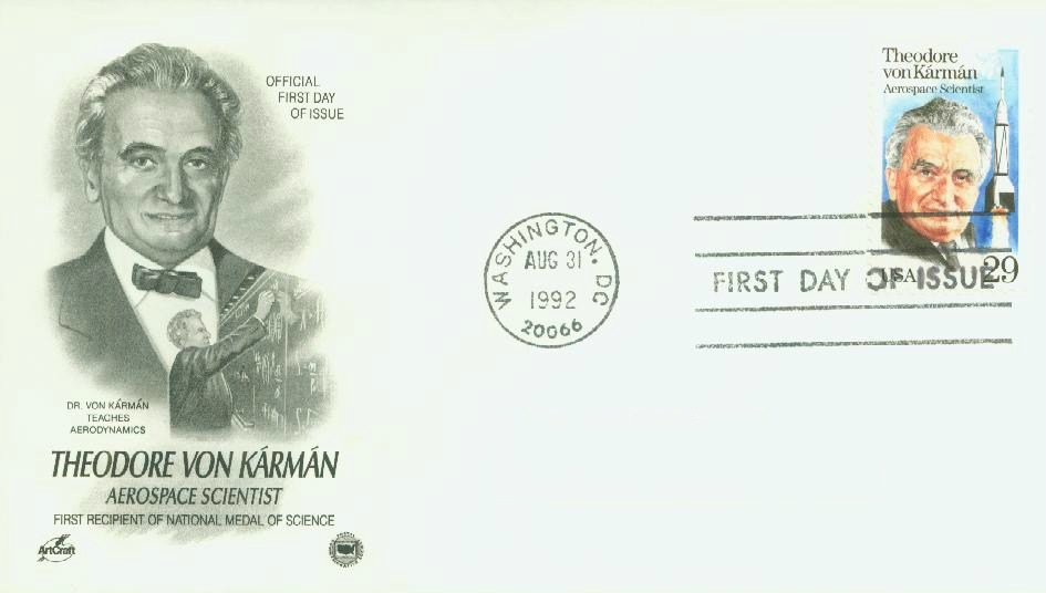 Theodore von Karman first day of issue cover