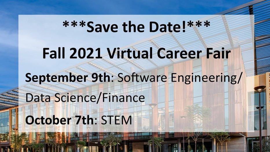 Save the Date - Fall 2021 Career Fair