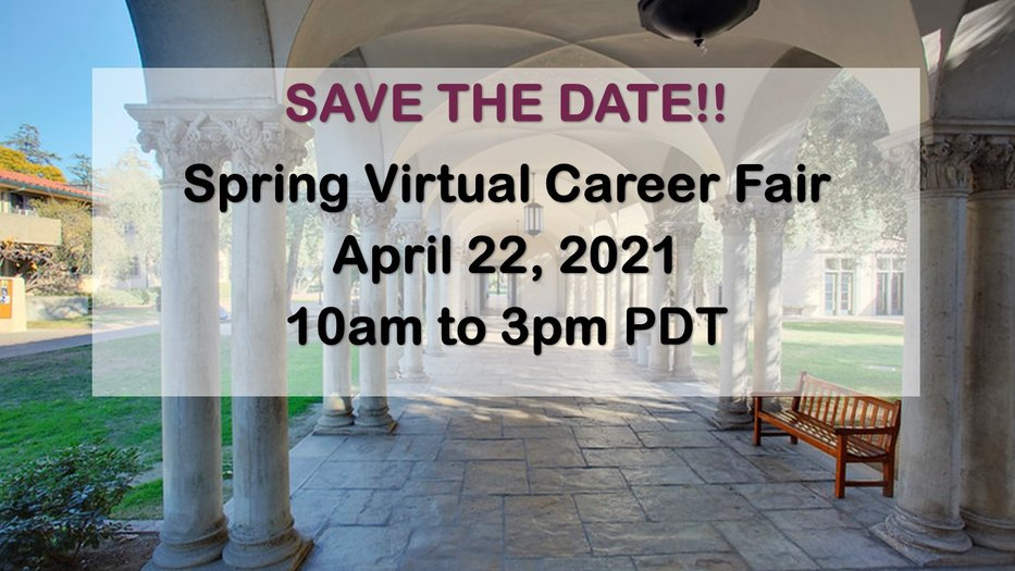 Spring Virtual Career Fair Announcement