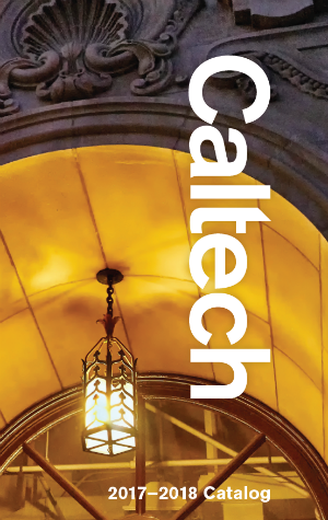 image of the cover of the 2017-2018 Caltech catalog