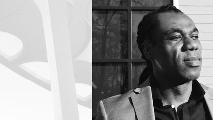 Black and white headshot portrait of Chris Boxe