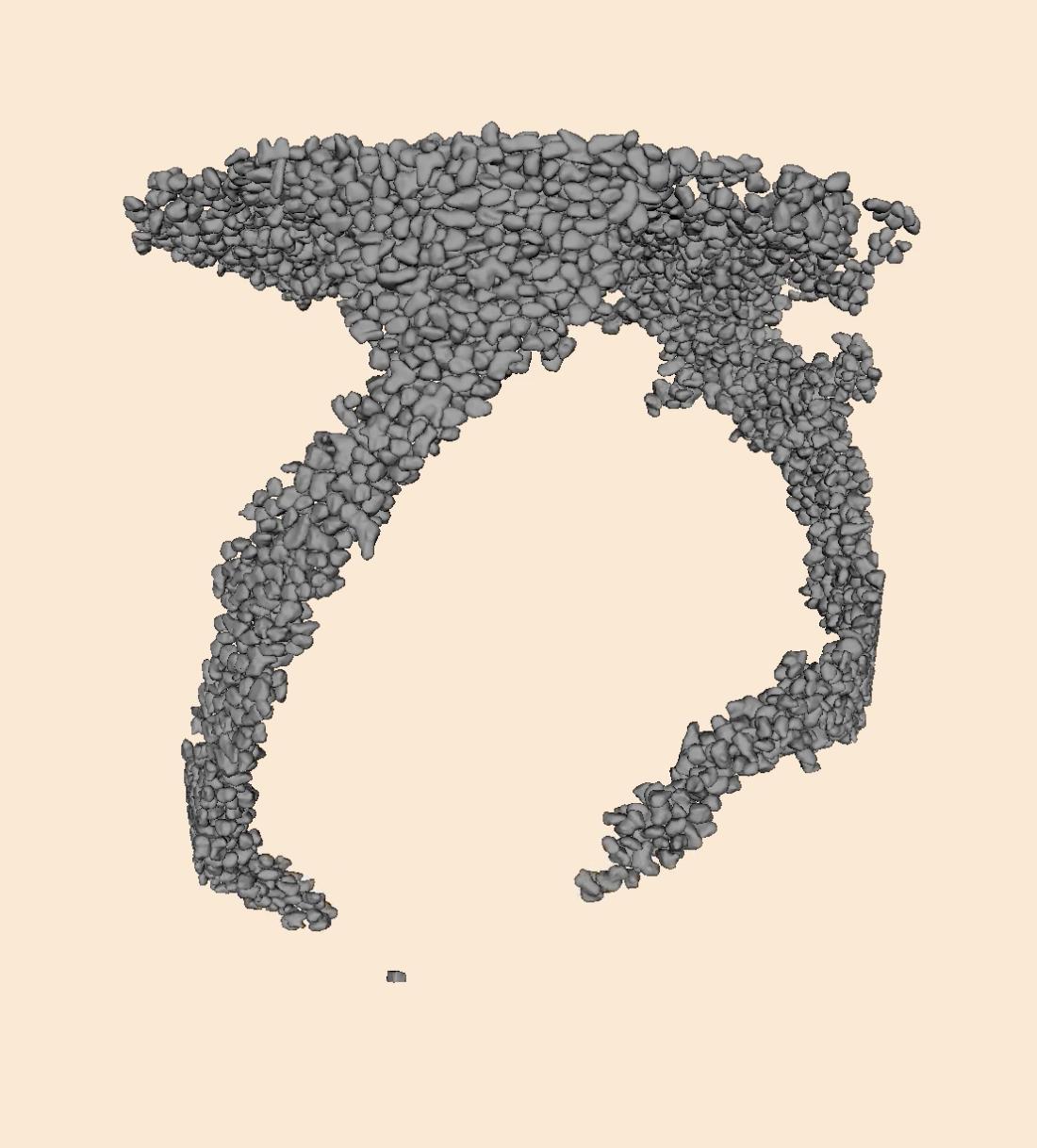 inverse LS-DEM representation of ant tunnels