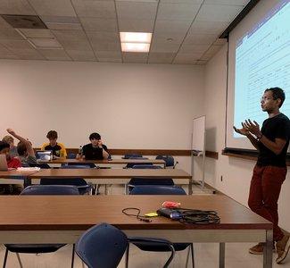 Ashish in classroom