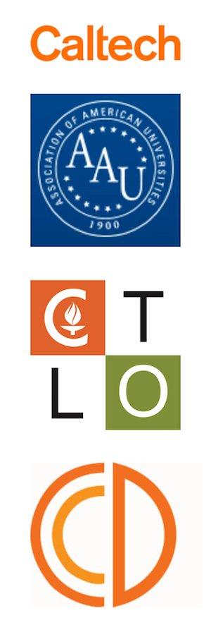 Inclusive Caltech Core Logos: Caltech, AAU, CTLO, CCD