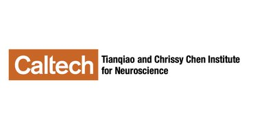 "Chen Institute Logo: Caltech in white in an orange box followed alongside the text ""Tianqiao and Chrissy Chen Institute for Neuroscience"""