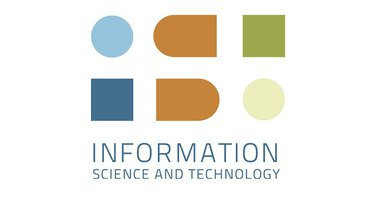 "IST logo: Abstract lettering IST, Blue I, Orange S, green T., below in blue text ""Information, Science and Technology"""