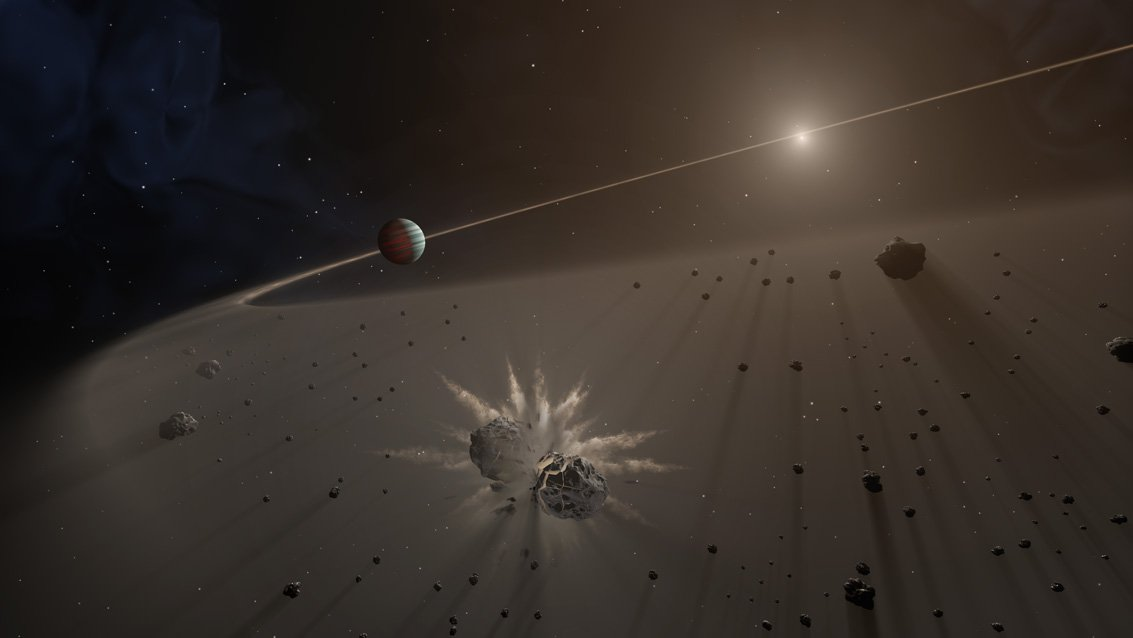 Artist rendition of debris disk