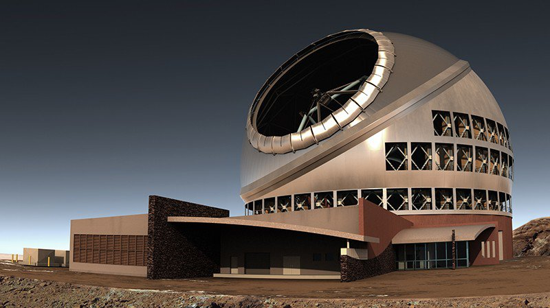 Artist's renidtion of the Thirty Meter Telescope.