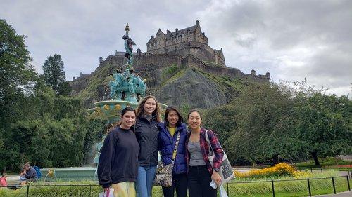 Students at Edinburgh