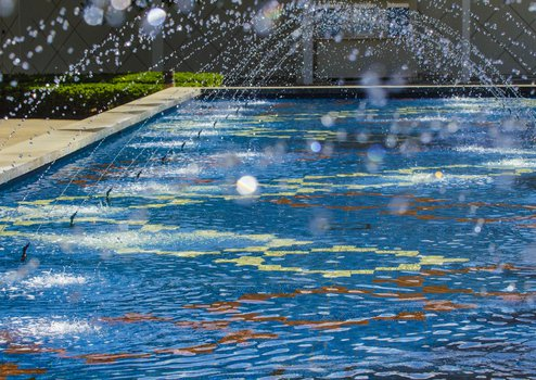 photo of Beckman Institute Fountain