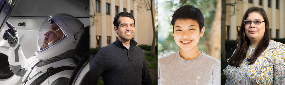 Caltech Alumni Bob Behnken, David Mittlestein, Myra Cheng, and Erika Figueroa Schibber