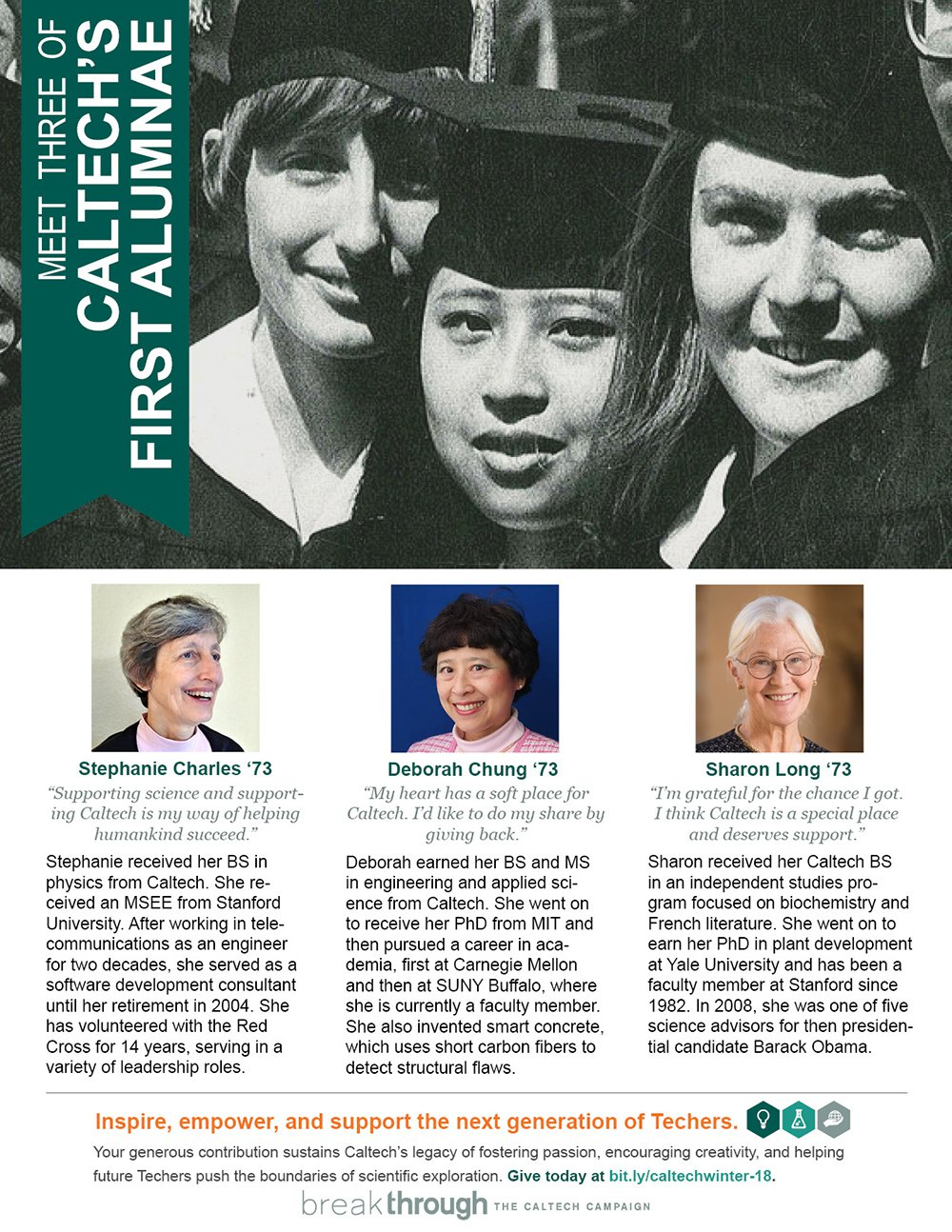 Three of Caltech's First Alumnae