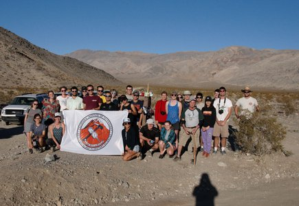 Students on geology field trip