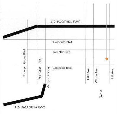 Pasadena Street Map to Caltech