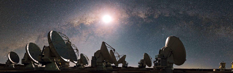 Radio Telescopes Facing the Sky