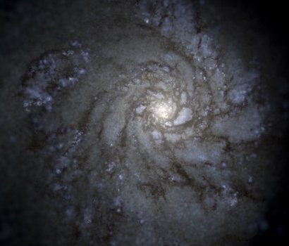 Simulated View of Milky Way Galaxy