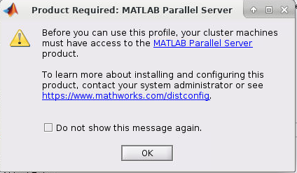 Matlab DCE software warning