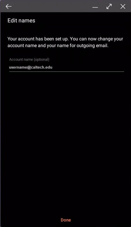 Android username or alias