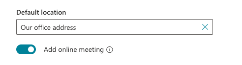 Bookings option to add online meeting