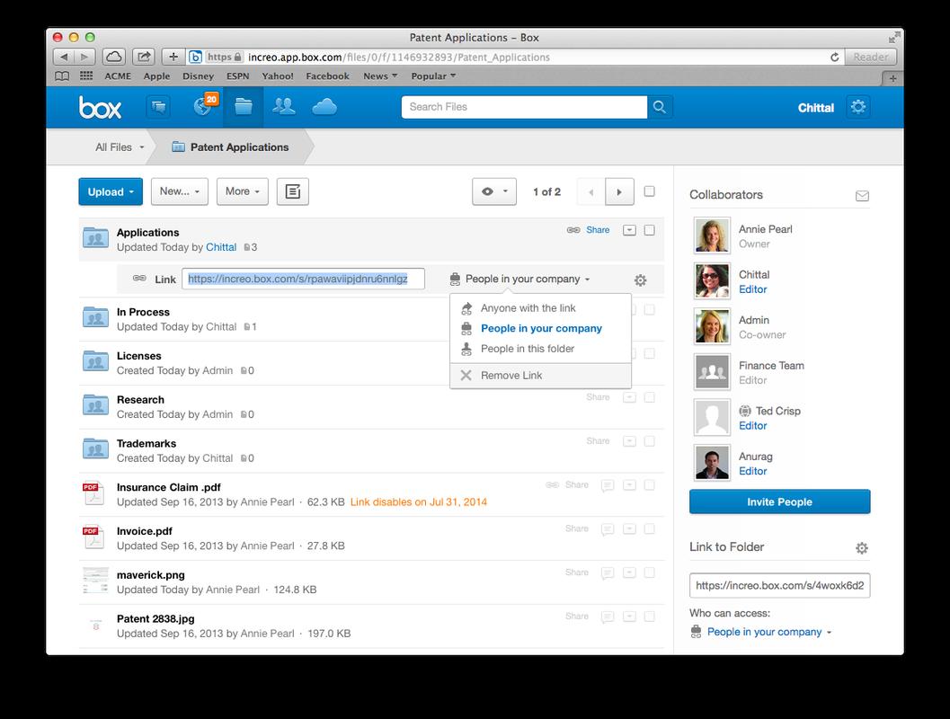 Box - file sharing and collaboration.