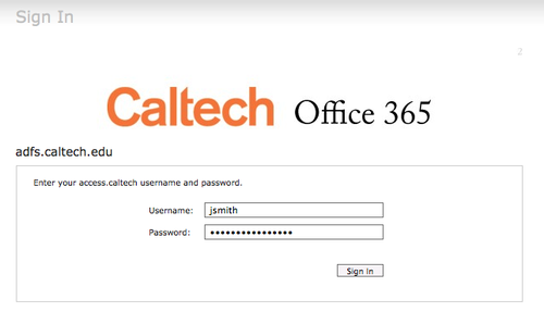Caltech Office365 Login
