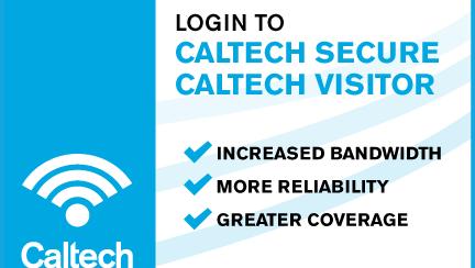 Caltech Secure wifi post card