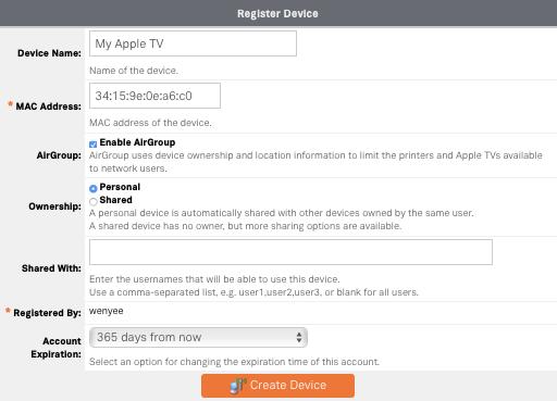 Device Registration Form