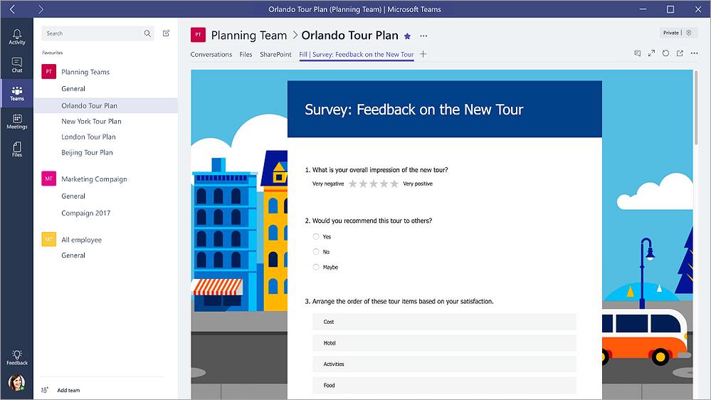 create surveys, questionnaires, polls