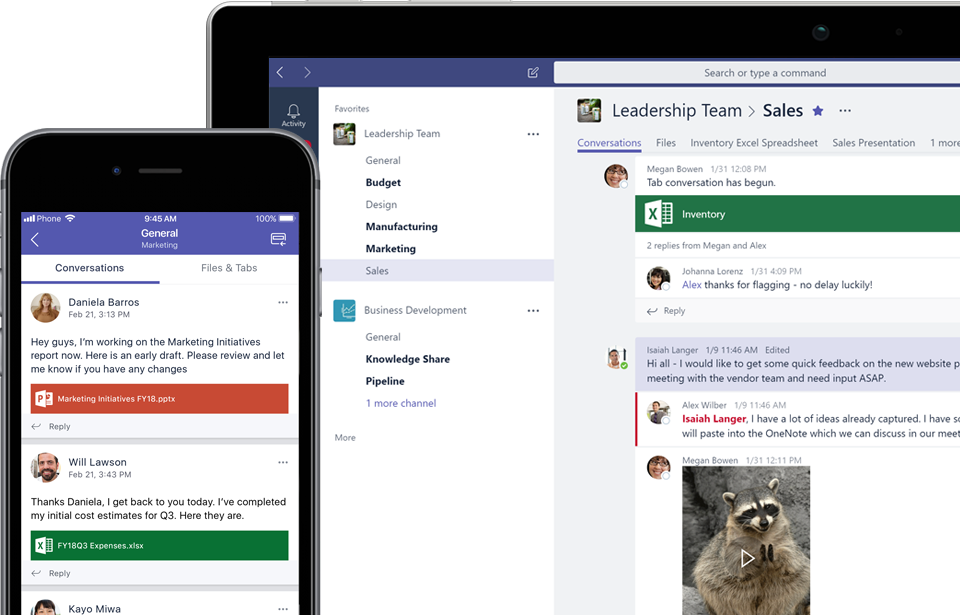 Teams - Instant messaging (IM), group chat, file sharing and collaboration