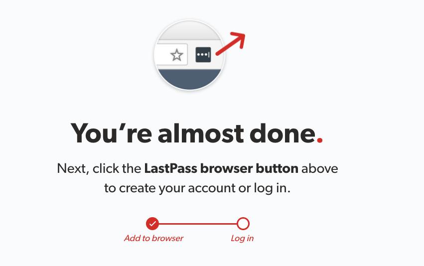 LastPass browser extension button