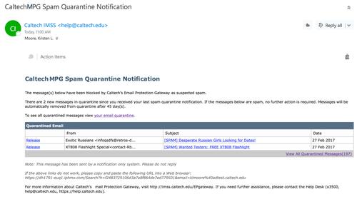 MPG Quarantine Example