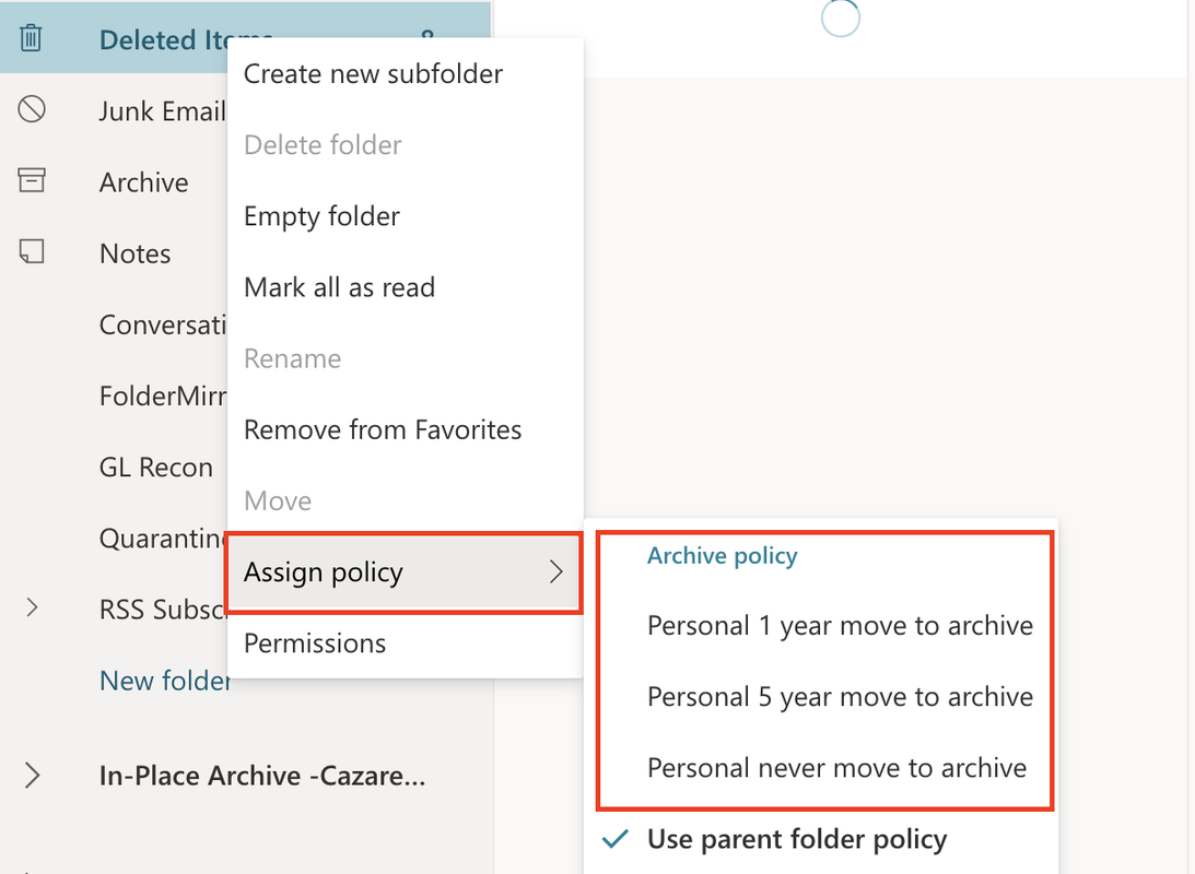 online archive policy