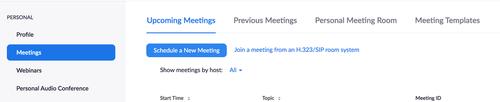 schedule meeting settings