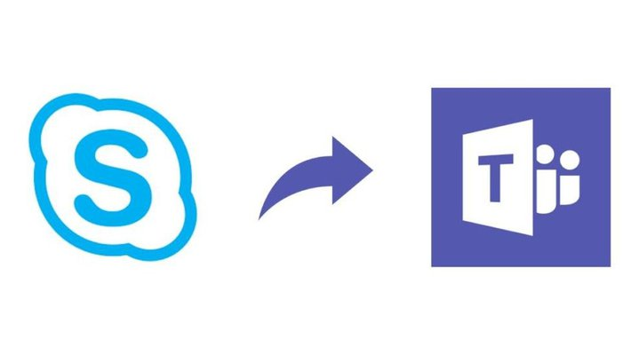 skype to teams logo