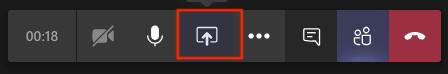 Teams toolbar share icon