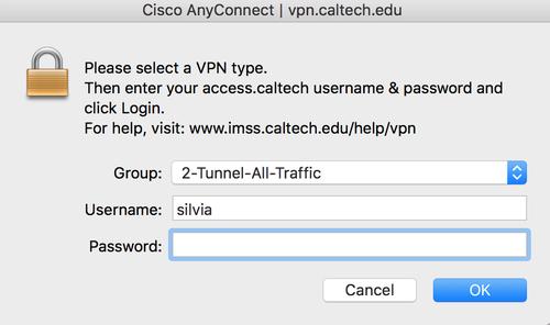 VPN Client Log In