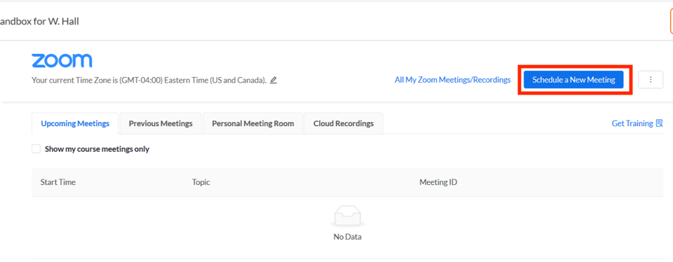 canvas zoom integration, schedule meeting button selected