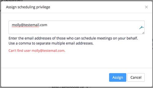 Zoom Scheduling Privilege Error