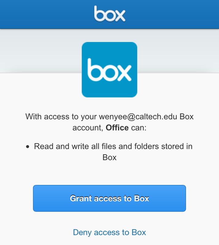 Box Welcome